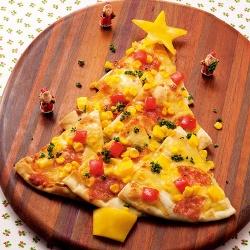 ツリーのピザ