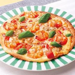 えびとツナマヨのトマトピザ