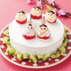 ひなまつりのバウムケーキ