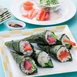 海鮮サラダ手巻き寿司