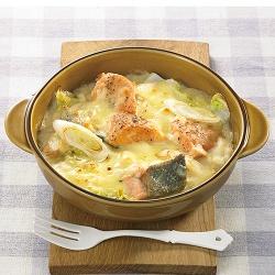 鮭と白菜のグラタン