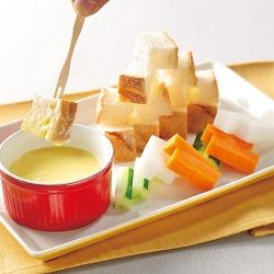 朝食チーズフォンデュ
