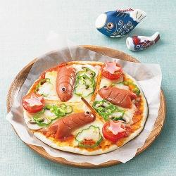 こいのぼりピザ