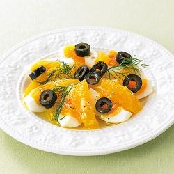 オレンジとゆで卵のサラダ