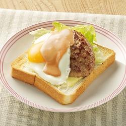 ハンバーグのっけパン