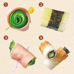 お弁当の緑のおかず〈そのまま巻く〉