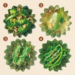 お弁当の緑のおかず〈焼く〉