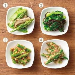 3色野菜de彩り弁当〈緑のおかず〉