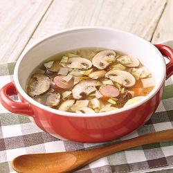 きのことキャベツのスープ
