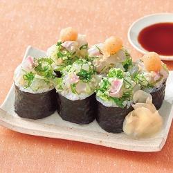 鯛のたたきのっけ寿司