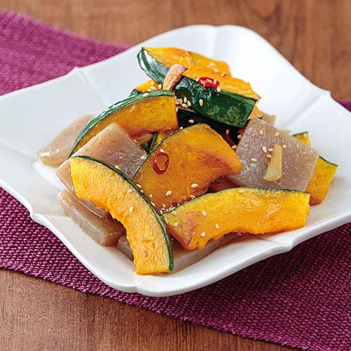 かぼちゃの中華風ペペロンチーノ