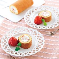 いちごの簡単ロールケーキ