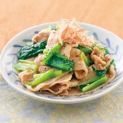 豚肉と小松菜のさっぱり和え